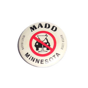 Vintage MADD Mother Against Drunk Driving Pin 80s
